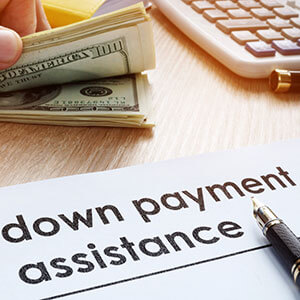 photo of money and the text down payment assistance